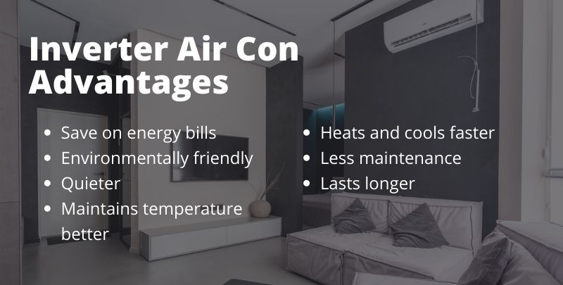 advantages of inverter air conditioners